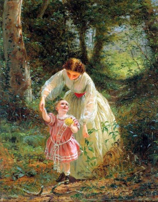 Джордж Хикс Элгар «Миссия женщины: Проводник по детству», 1862 год