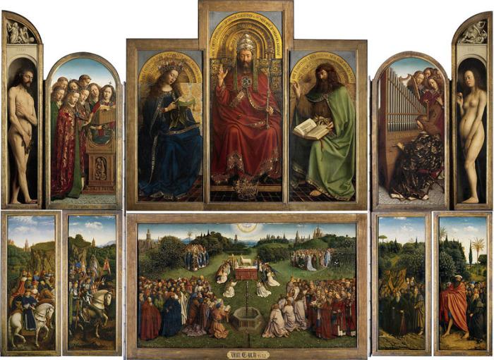 Хуберт ван Эйк, Ян ван Эйк, Гентский алтарь. 1432 г.