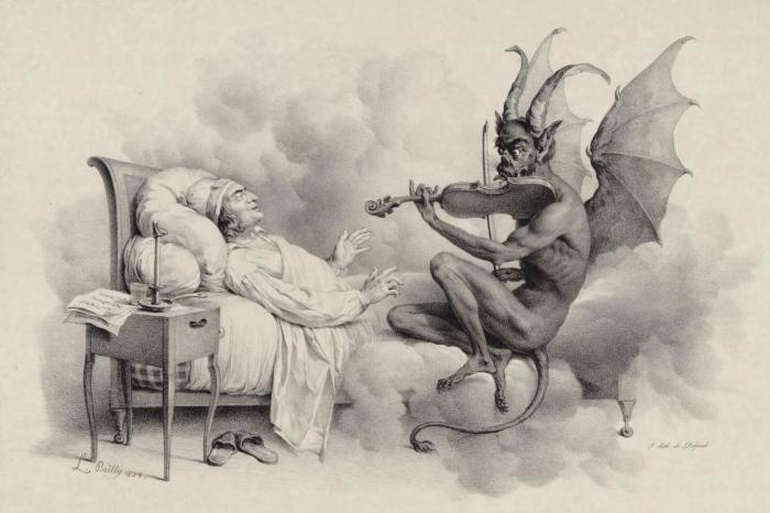 «Сон Тартини» литография Л. Буальи