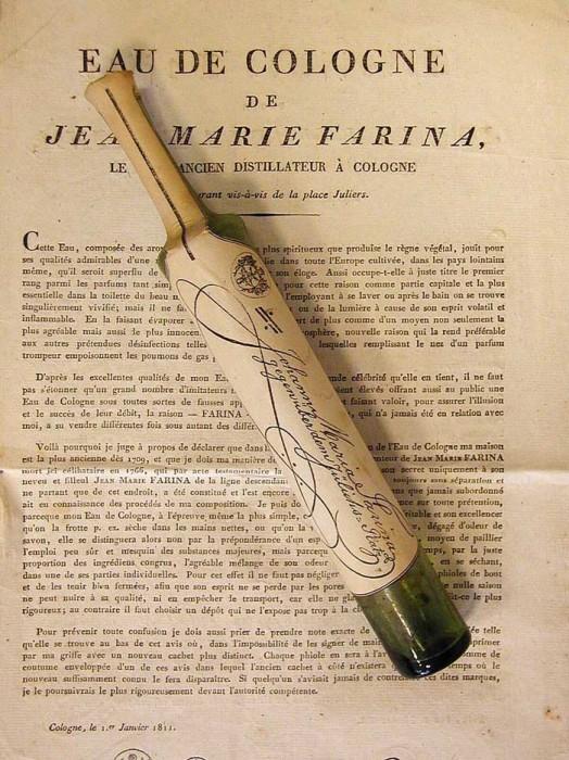 Оригинальная Eau de Cologne 1811 года