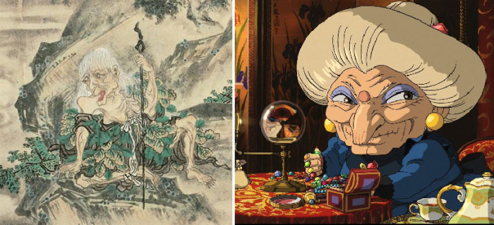 Ямауба на картине Сууси Яма и Юбаба