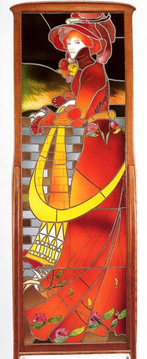 Жорж де Фёр (Франция), Витраж в деревянной раме