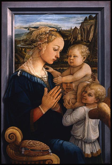 Фра Филиппо Липпи, «Мадонна с младенцем и двумя ангелами» (Мадонна под вуалью)