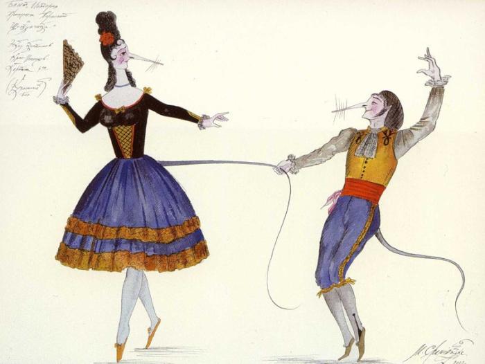 М. Шемякин, Эскизы костюмов к балету «Щелкунчик» в Мариинском Театре, 2001 г.