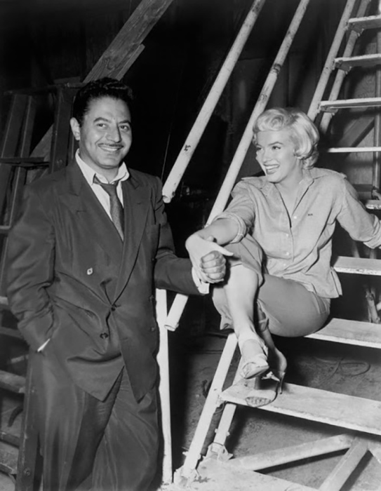 Сэм Шоу и Мэрилин Монро в студии 20th Century Fox