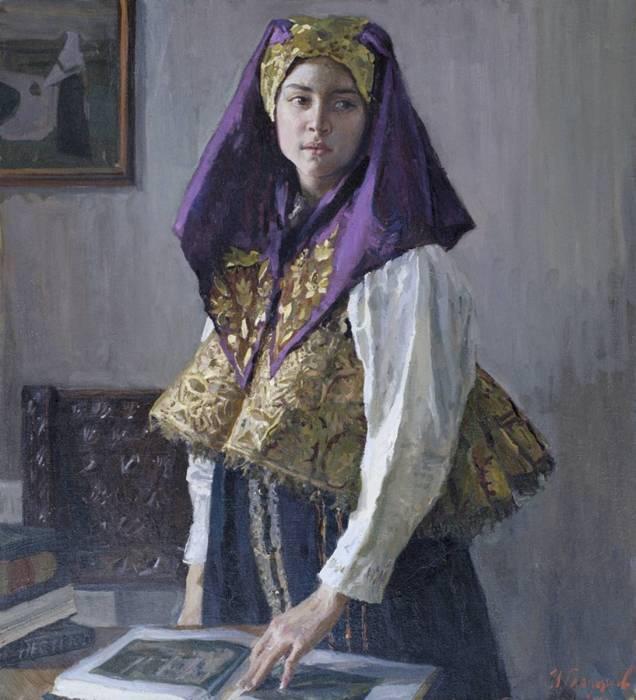 И. Глазунов, В Нижегородском костюме