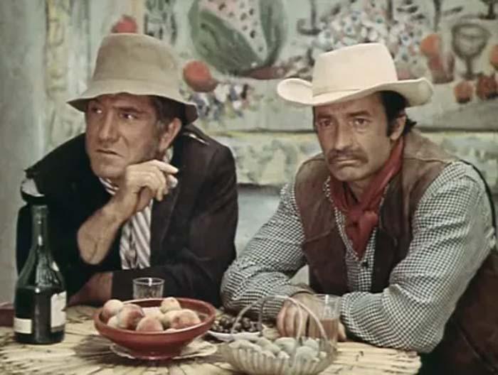 Валентин Гафт и Армен Джигарханян в фильме «Короли и капуста», 1978 г.