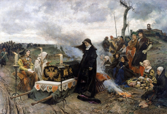 «Хуана над гробом мужа», Ф.Прадилья
