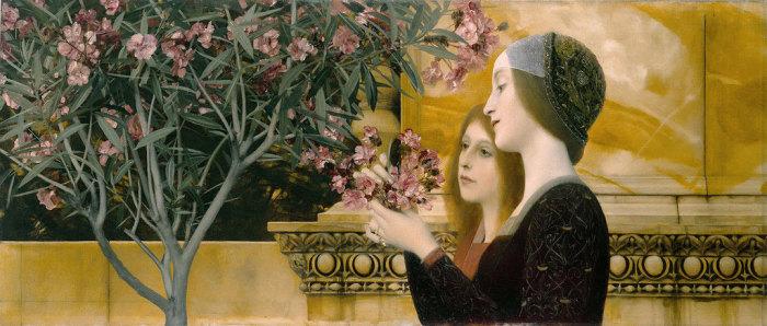 Густав Климт, Две девушки с олеандром
