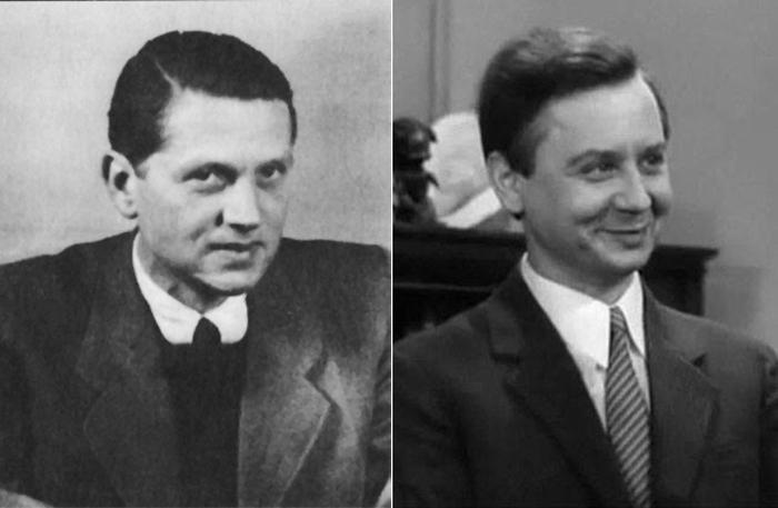 Реальный Вальтер Фридрих Шелленберг и Олег Табаков в этой роли