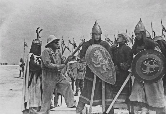 На съемках фильма «Александр Невский», 1938 год
