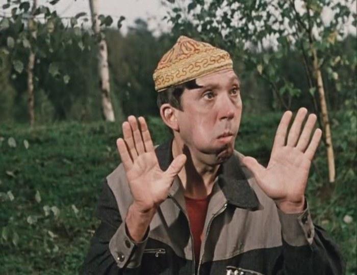 Первая крупная роль в кино Юрия Никулина, кадр из к/ф «Пёс Барбос и необычный кросс» , 1961 год