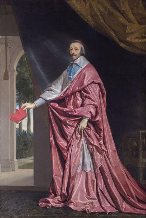 Герцог де Ришелье, портрет работы Филиппа де Шампеня