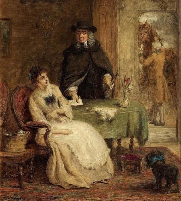 Свифт и Ванесса. Картина Уильяма Фрайта, 1881