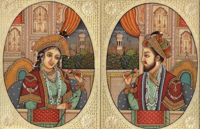 Шах-Джехан и его вторая жена Мумтаз Махал