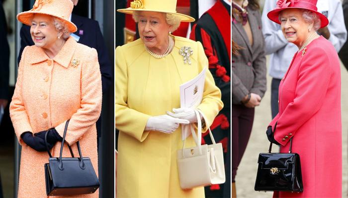 Королевские сумочки не так разнообразны как шляпки, обычно они бывают черными или белыми