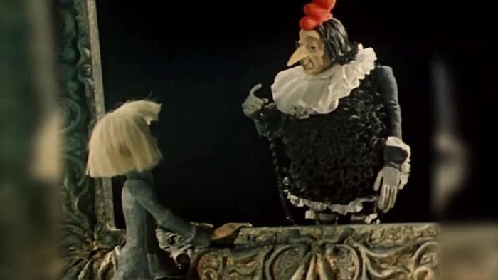Кадр из м/ф «Чёрная курица, или Подземные жители», 1975 года