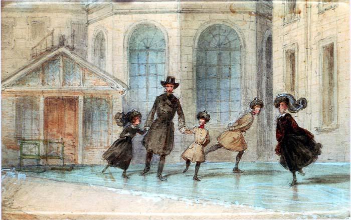 Катание на коньках было любимым зимним развлечением в семье Романовых