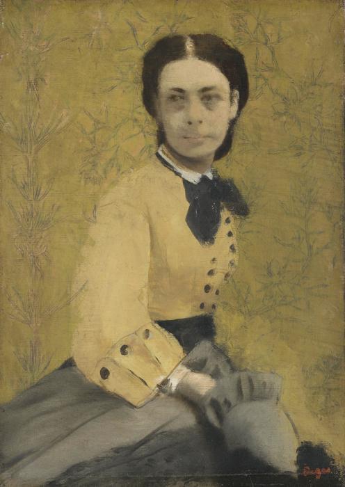 По воспоминаниям современников, княгиня фон Меттерних не отличалась классической красотой, но обладала несомненной харизмой. Ее портреты писали многие живописцы. Этот принадлежит кисти Дега.
