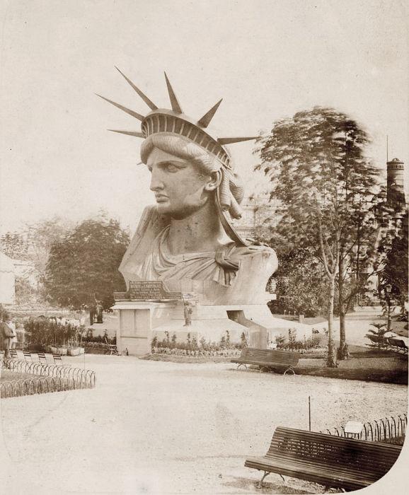Голова статуи на Всемирной выставке в Париже, 1878 год