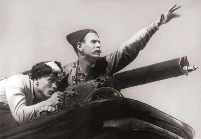 Кадр из х/ф «Чапаев», 1934 год