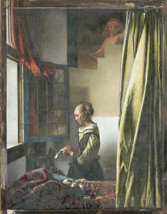 Ян Вермеер, «Девушка с письмом у окна» в процессе реставрации