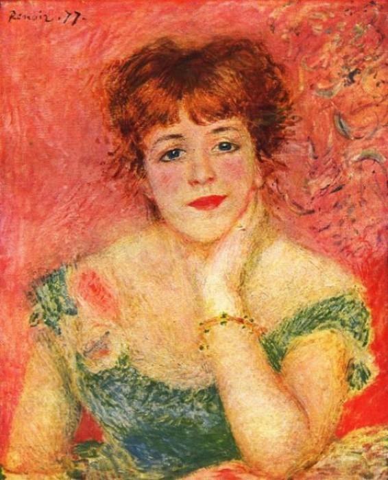 """Огюст Ренуар, """"Портрет Жанны Самари"""", 1877 год"""