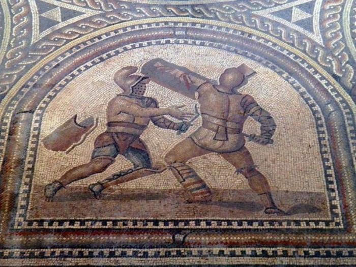 Фрагмент древнеримской мозаики