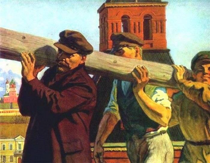 «Ленин на субботнике» часто становился темой полотен и плакатов