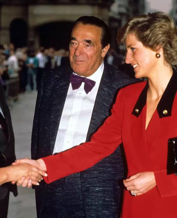 Роберт Максвелл с принцессой Дианой, 1988 год