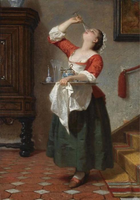 Вильгелм Амберг,  «Горничная», 1862 год
