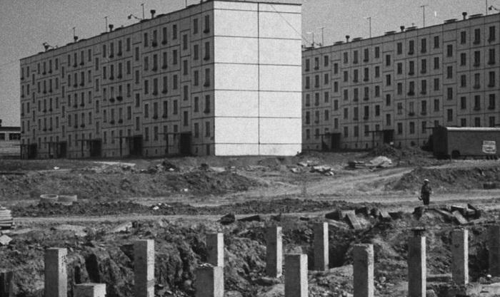 Стройка в Черемушках, 1963 год, Стэн Вейман (Stan Wayman)