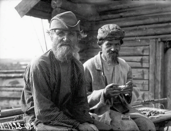 Старики. Карелы. Карелия, Олонецкий р-он. 1927г.
