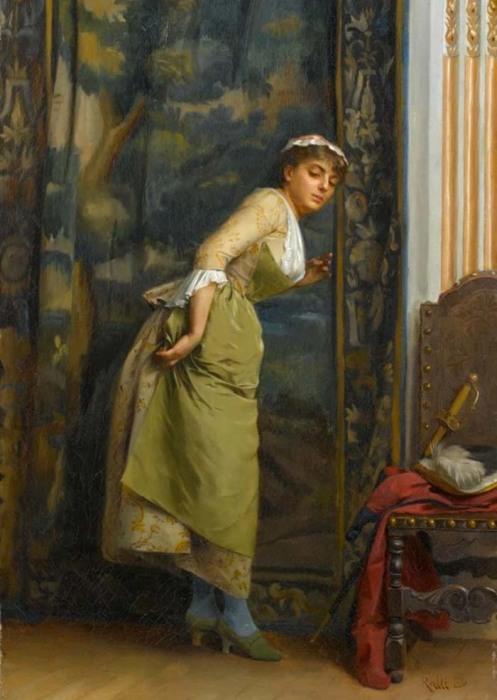 Теодор Ралли, «Подслушивание», 1880 год