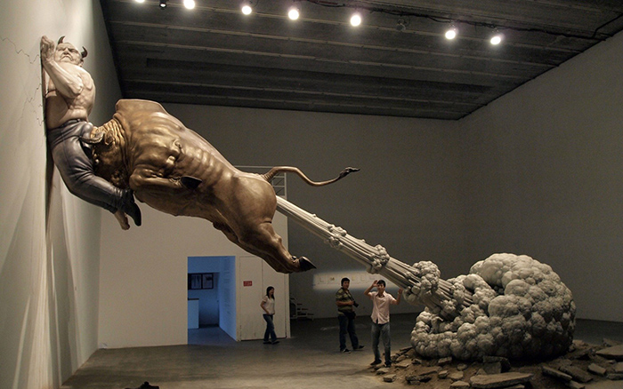 Одна из самых необычных инсталляций китайского скульптора Чена Венлинга