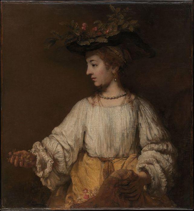 Рембрандт, «Посмертный портрет Саскии в образе Флоры» 1660 год