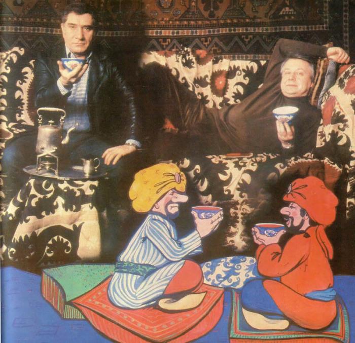 Олег Табаков Армен Джигарханян – главные герои сказки «Али-Баба и 40 разбойников»