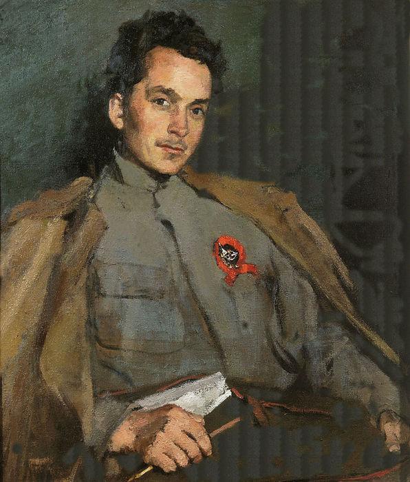 Портрет Д. А. Фурманова работы Сергея Малютина