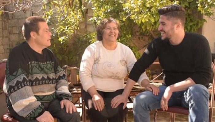 Садер с родителями, 2019 год