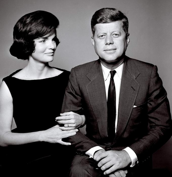 Жаклин Кеннеди с мужем