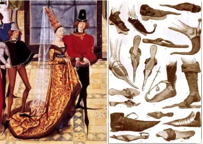 Пулены – длинноносые туфли