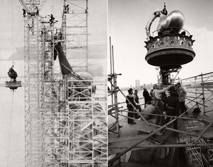 Процесс строительства главного символа Соединенных штатов Америки – Статуи Свободы