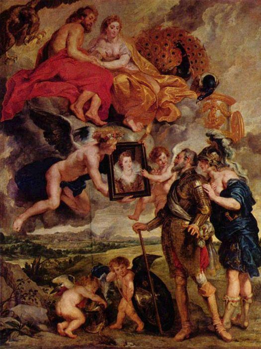 Питер Пауль Рубенс, Представление портрета Марии Медичи Генриху IV