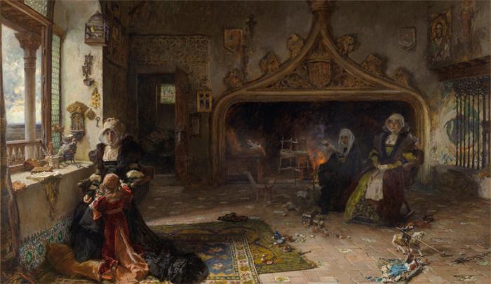 «Королева Хуана I Безумная в заключении в Тордесильясе со своей дочерью инфантой Каталиной», Ф.Прадилья
