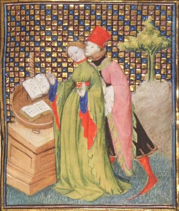 Средневековая миниатюра: «Чтение поэзии»