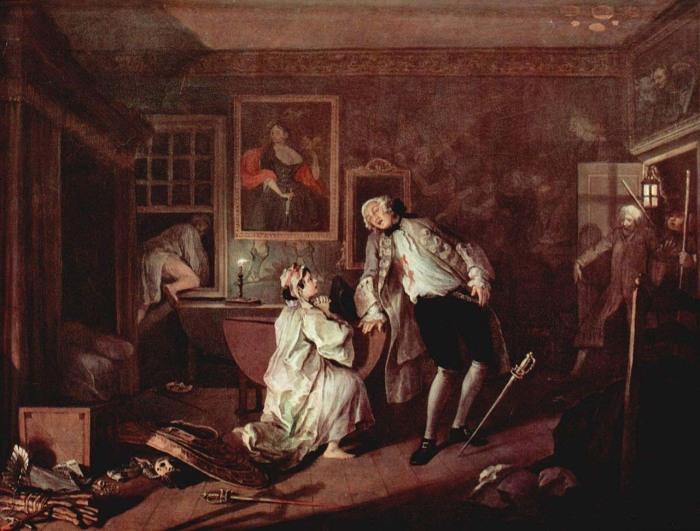 Уильям Хогарт «Дуэль и смерть графа» («The Death of the Earl»)