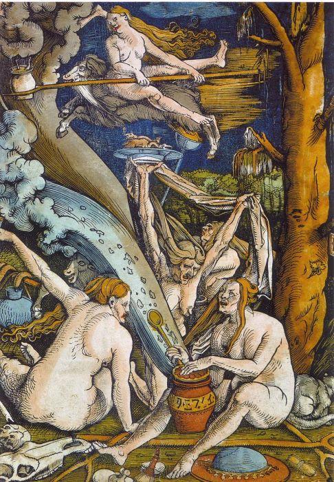 Ведьмы на гравюре 1508 года