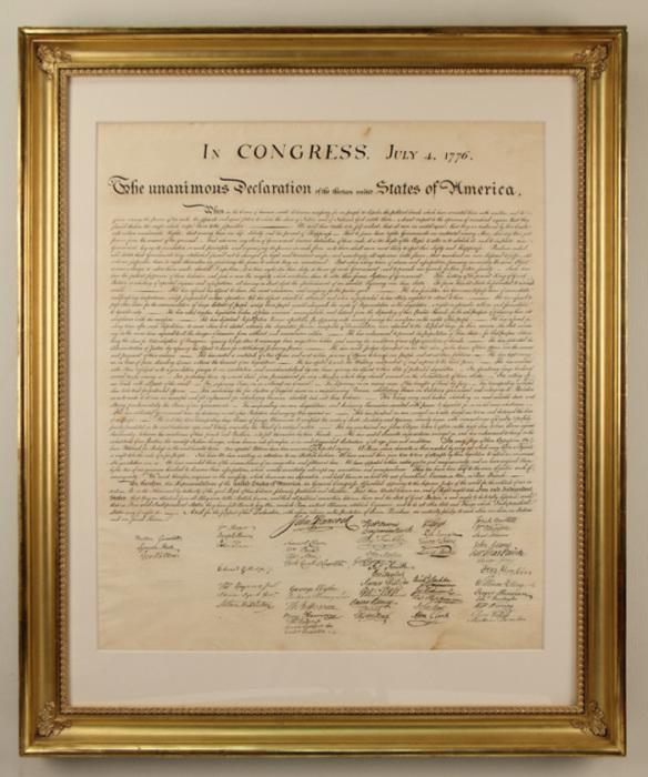 Декларация независимости – один из важнейших исторических документов США