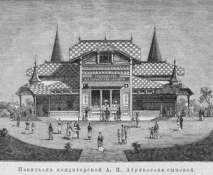 Павильон товарищества на Всероссийской художественно-промышленной выставке 1882 года в Москве