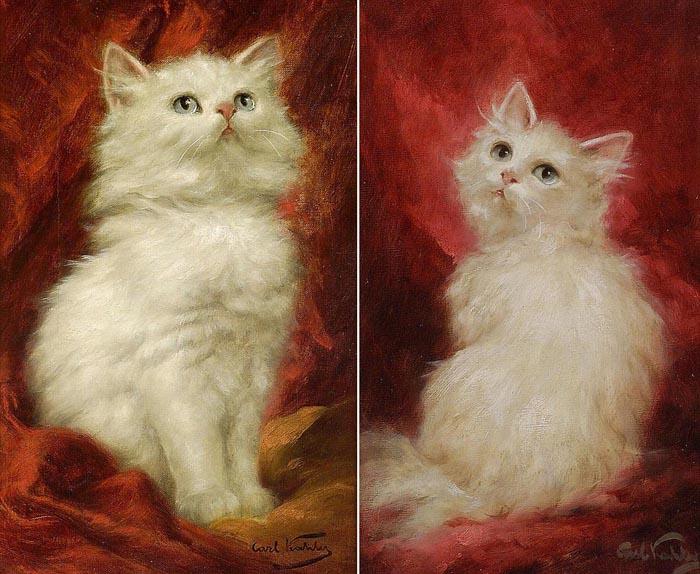 Карл Калер, портреты котов, сделанные для подготовки к работе над картиной «Любовники моей жены», 1991 год